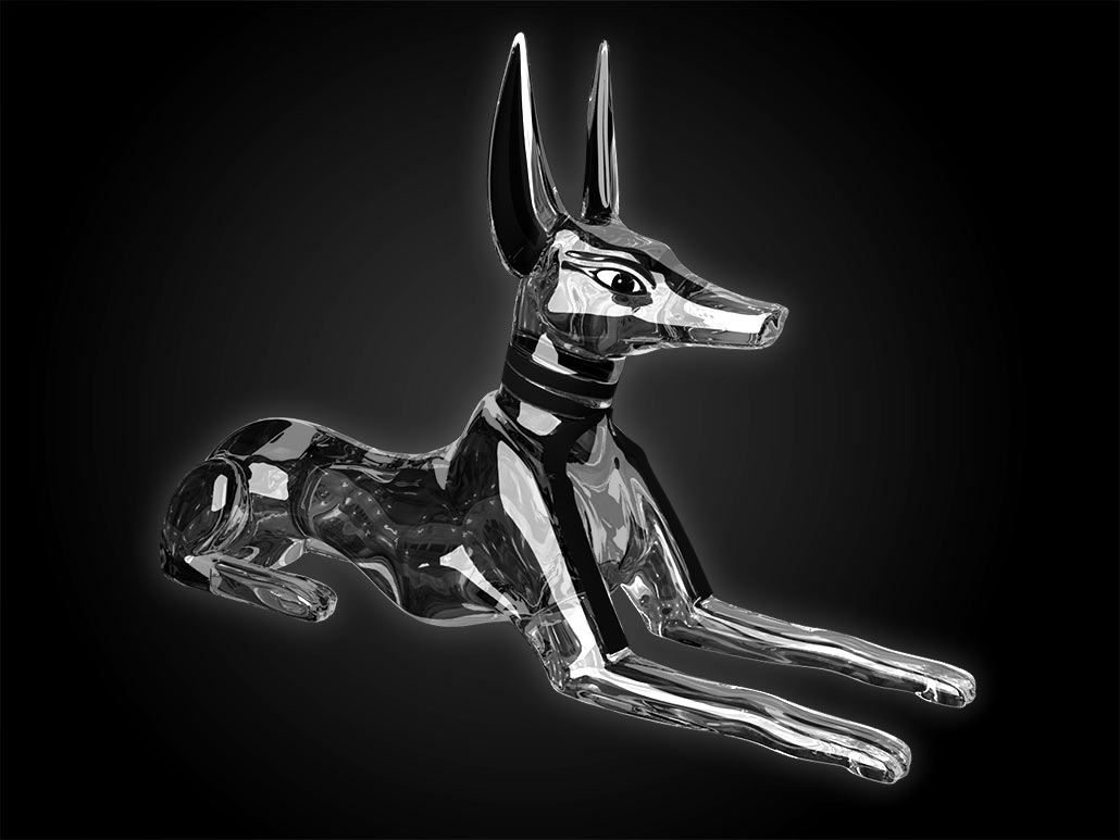 Anubis, glass object rendering for iPhone game app