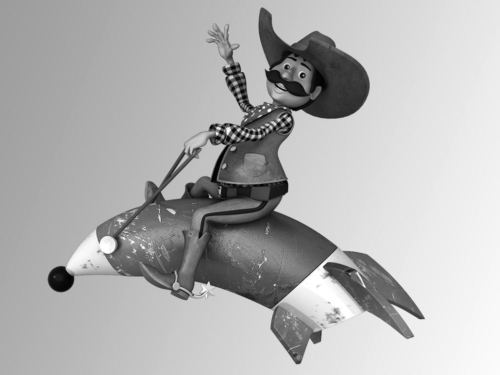 3D Cowboy company mascot