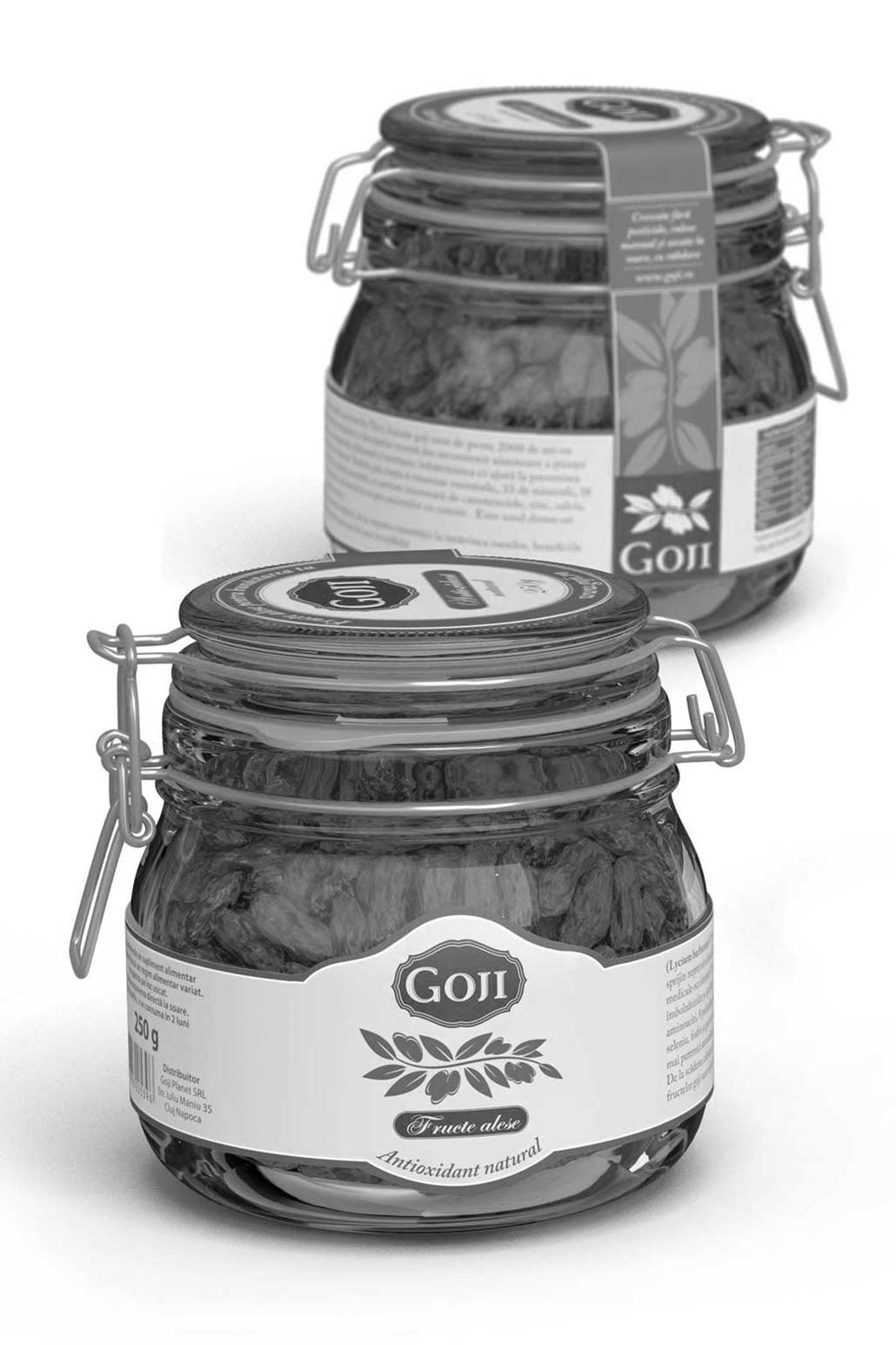Goji, Product 3d rendering