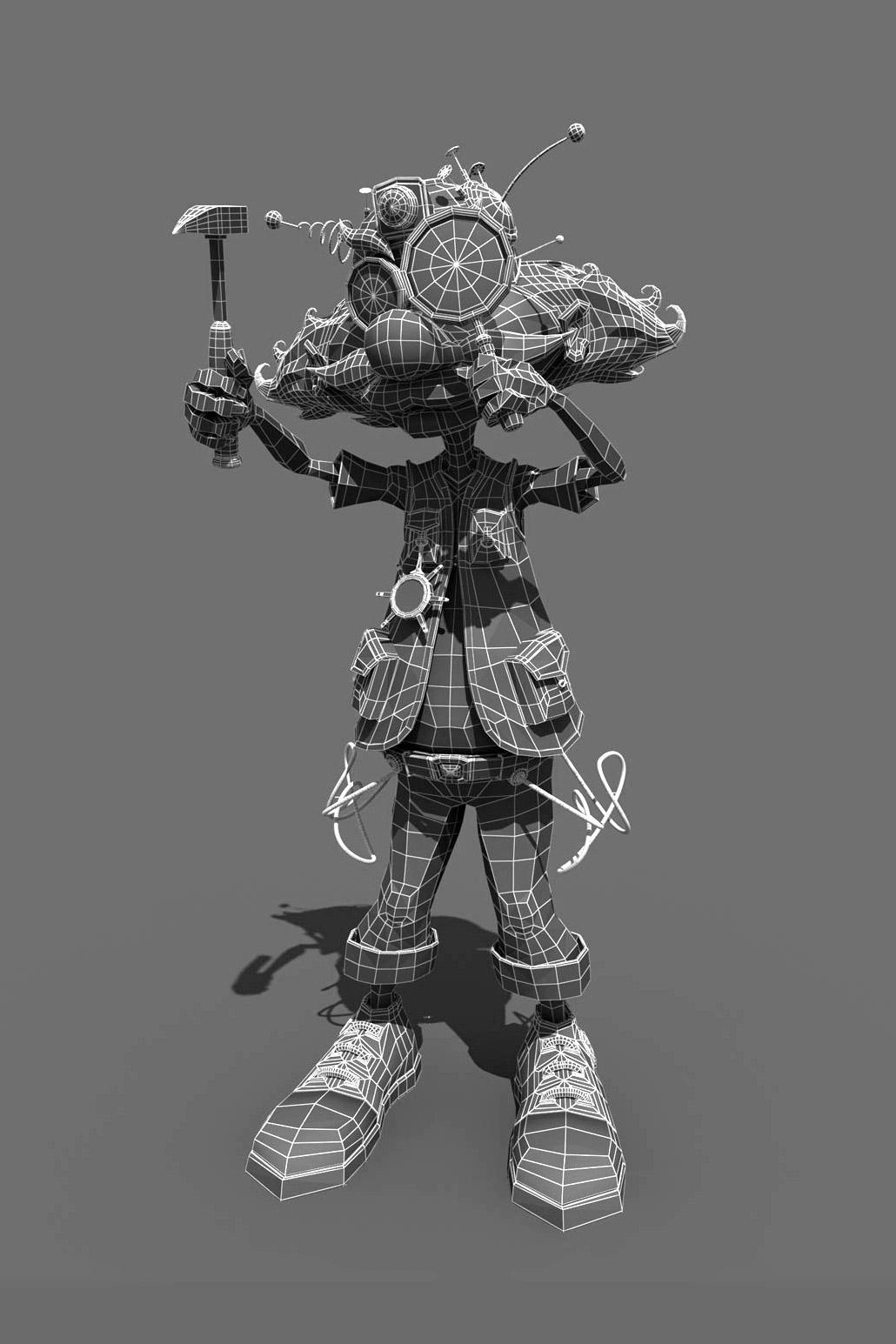 Scientist character, 3D company mascot