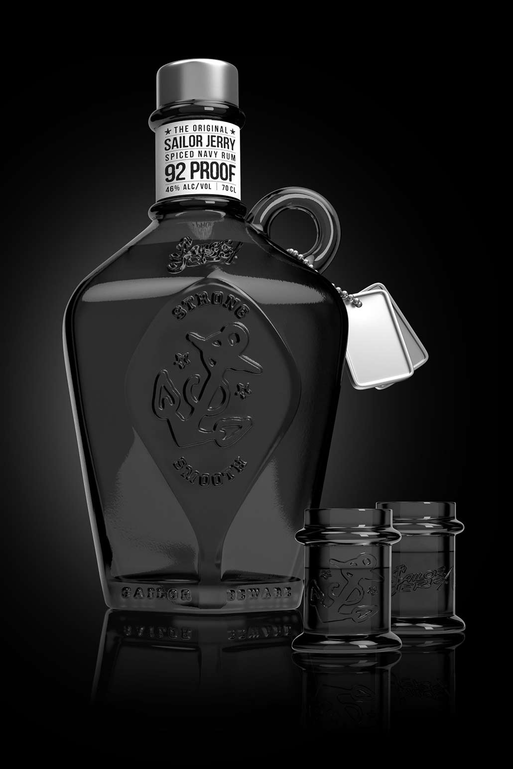 Sailor Jerry, 3D product visual, modelling 3ds max, rendering V-ray