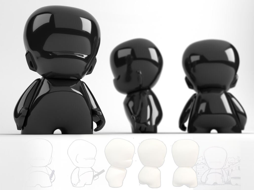 Vynil character, 3D product visual, concept by Collin Snowball