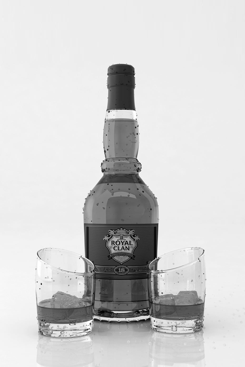 Whisky Bottle, 3D visual